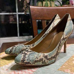 Coach Nala Snakeskin heels sz 9 EUC